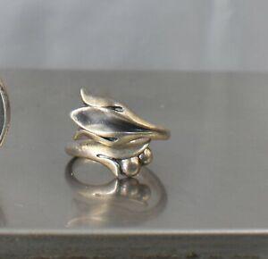 CrazieM Sterling 925 Silver Vintage Southwestern Estate Ring Size 6 4.1g x79