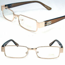 New Mens Women DG Clear Lens Gold Frame Glasses Designer Fashion Optical RX Nerd