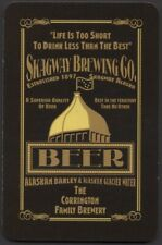 Playing Cards 1 Single Card ** SKAGWAY BREWING Co. ** Brewery Beer Advertising