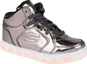 Skechers  S Lights:Energy Lights Eliptic Kinder Schuhe Sneaker 90603L (Grau-GUN)