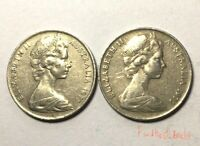 🇦🇺2x 1971 10 Cent Australian Coins Low Mintage Collectable📮FREE Postage