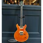 Ornetts GM6-R Trans Amber Double Cut Made in Japan HH Used Electric Guitar for sale