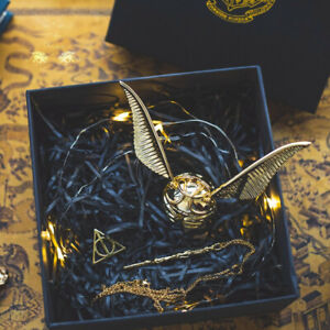 Harry Potter Golden Snitch Ring Jewelry Storage Box Necklace Chain Birthday Gift