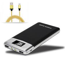 2 USB 50000mAh LCD Digital Power Bank Externer LED Zusatzakku Batterie Ladegerät
