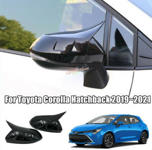 Fit For Toyota Corolla Hatchback 2019~2021 Black Side Rearview Mirror Cover Trim