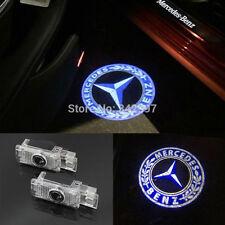 2x LED door courtesy laser projector light For Mercedes W203 C Class SLK CLK SLR