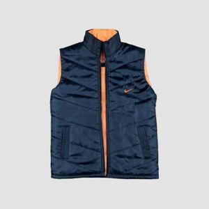 Nike Athletic Navy & Orange Puffer Gilet. Mens. Large.