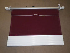 "DOMETIC OEM RV Window Awning Crimson Maroon White 45"" Fabric Metal Camper A1"