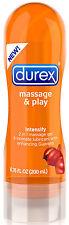 Durex Massage & Play 2 in 1 Intensify Guarana - 6.76 Fl. Oz. / 200 ml