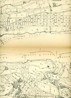 Vintage 1910 Stokes Iconography of Manhattan Map plate New York city 190th st