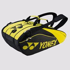 YONEX 9 Tennis/12+ Badminton Pro Thermal Racquet Bag 9629EX, Black/LIME