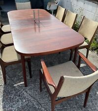More details for mid century mobelfabrik rosewood dining table and 8 chairs