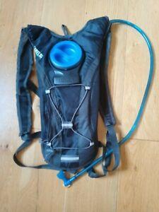 Camelbak Hydration Backpack Black 1L Zip Front Pocket Elasticated Front Storage