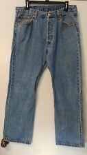 Levis 501xx Men's 36x32 Button Fly Distressed Blue Jeans
