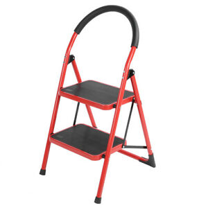 Leiter Klappleiter Schale Haushaltsleiter 150kg 2 Stufen Stehleiter Trittleiter