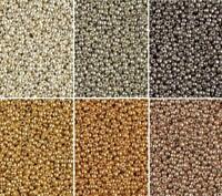 6 Colors Miyuki Round Seed Beads Size 11/0 Duracoat Galvanized Metallic 11-CMD11