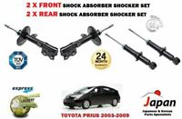 FOR TOYOTA PRIUS 1.5 HYBRID 2003-2009 2X FRONT + 2X REAR SHOCK ABSORBER SHOCKERS