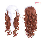 """X Men Rogue Anna Marie 23"""" Long Curly Wavy Wigs Brown Mixed White Cosplay Wig"""