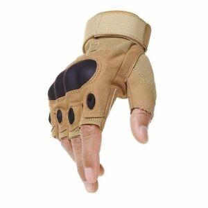 Tactical Fingerless Gloves Hard Knuckle Shooting Paintball Half Finger Gloves