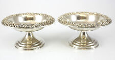 Pair of S.Kirk & Son, Inc. Sterling Silver Compotes, c.1930 Hand Chased 9toz