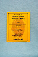 University of California Athletics Media Pass