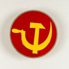 Buckle Red Yellow Great American Products Hammer & Sickle Round Pewter Belt