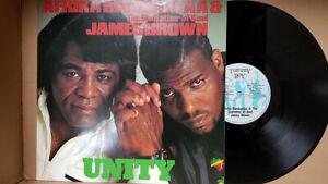 Afrika Bambaataa & James Brown – Unity MAXI 45T EX/VG++ Polydor – AFRX 2