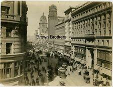 Vintage 1900s San Francisco Pre-Quake Market & Eddy Street Cable Cars Photo - BB