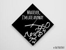 Whatever I'm Late Anyway / Diamond Black - Wall Clock