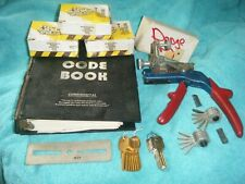 Vintage Curtis Model 15 Key Cutter Clipper Punch Lot with Keys & 1982 Code Book