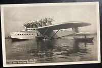 1929 Lindau Germany RPPC Postcard Cover To Brooklyn NY Usa Do X Seaplane Type