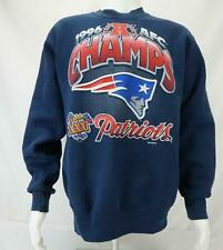 VTG 1996 AFC Champs New England Patriots Sweatshirt Made in USA Blue Men's Large
