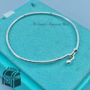 "Tiffany & Co. 925 Silver 6.5"" Hook Bangle (Pouch)"