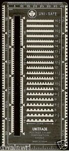 """Uni-safe """"Superior Guage"""" Slotted METAL Perforation Perf Gauge - NEW! $2.99"""