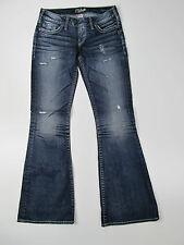 Silver Jeans Tuesday Flare Trousers Hose Denim Jeans Pantalone Blau Neu 28
