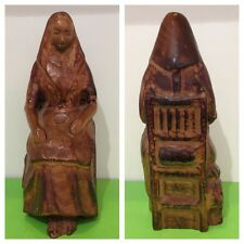 Old Wooden Figure Decor Lady