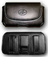 Black Leather Case Pouch Holster with Belt Clip/Loop for Verizon HTC Desire 526