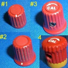 Small Red Tektronix TEK knobs, Assorted styles, Sold in pairs