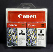 Canon BCI-6BK Twin Pack Black Ink Cartridges 2x Printer Pixma