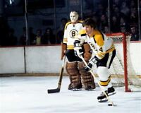 Bobby Orr, Eddie Johnston Boston Bruins 8x10 Photo