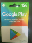 15€ CA Google Play Gift Card GREEK STORE ONLY. FREE SHIP ABSOLUTELY GENUINE!!!