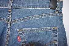 Vintage Levis 525 flares stretch blue jeans size W 28 L 32 red tab zip fly
