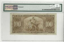 1937 Bank of Canada BC-27a, $100 Osb/Tow SN: AJ 0051257  PMG VF-25