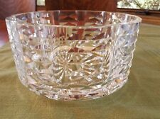 "Waterford Crystal- 7"" Round Bowl- Bow Tie  Design # 21801- New with Sticker"