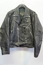 VINTAGE NICE London Leather Motorcycle BRANDO GIACCA TAGLIA 46