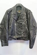 VINTAGE NICE London Leather Motorcycle BRANDO GIACCA TAGLIA 46