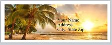30 Return Address Labels Scenic Beach Sunset Buy3 get1 free (p 252)