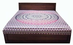 Queen Hippie Tapestry Wall Hanging India Mandala Tapestries Bedspread Wall Decor