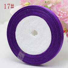 Sale New Charm 3/8 (10mm) 25yards Satin Ribbon Wedding Jewelry Craft deep purple