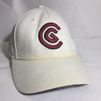 Cleveland Golf Hat Baseball Cap White Red C Logo Strapback 100% Cotton Golfing